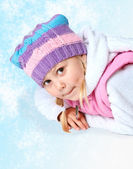 Little girl wearing winter clothes, Christmas — Stock Photo