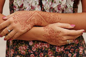 Beautiful girl painted Mehandi — Stock Photo