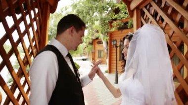 Beautiful wedding pair — Stock Video