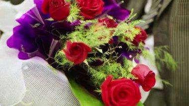 Krásná kytice — Stock video
