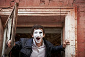 Portrait of a Man mime. — Stock Photo