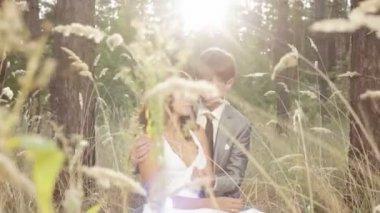 日没で美しいカップル — ストックビデオ