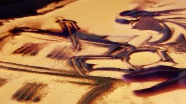 Pintura de arena — Vídeo de stock