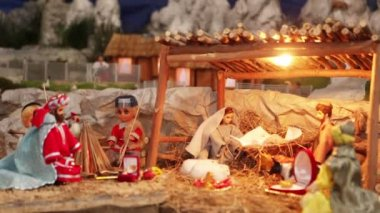 Christmas nativity scene — Stock Video