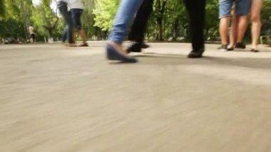Próba dla walca szkoły. aparat ruchu nogi taniec — Wideo stockowe