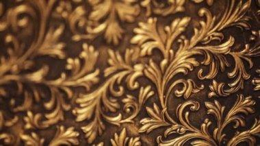 Cara textura cobre com um belo padrão — Vídeo Stock