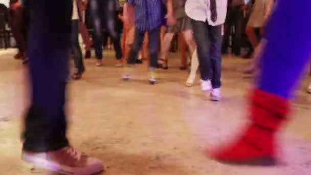 Pies de baile — Vídeo de stock