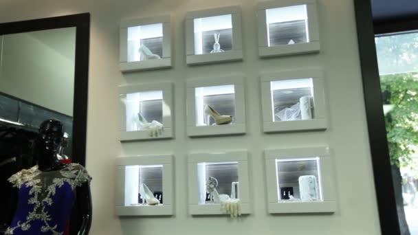 Mur avec windows pour les accessoires de mariage — Vidéo