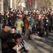 Protests in Dnipropetrovsk, Ukraine — Stock Video