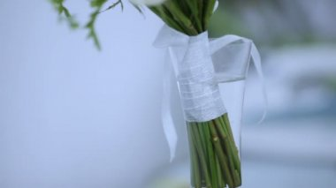 Beautiful wedding bouquet — Stock Video