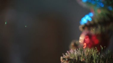 Decorated New Year tree — Stock Video