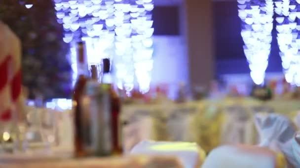 Recepción de año nuevo de decoración — Vídeo de stock