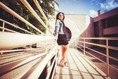Girl on the Bridge — Stockfoto