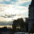 Boulevard of Pyrenees in Pau at sunset — Stock Photo #12644036