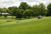 Golf green in the campus of Princeton university — Stock Photo