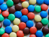 A lot of multicoloured candies background — Stock Photo