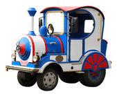 Stora elektriska leksak lokomotivet isolerade — Stockfoto