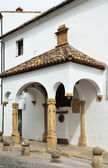 The ancient stone house with a portico — Foto de Stock