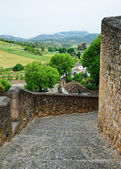 Ancient road of Spanish town Ronda — Stock Photo