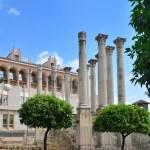 Ancient columns near the City Hall in Cordoba — Stock Photo