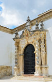 Entrance of the Baroque church in Cabra — Stock Photo