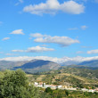 Andalusian view with mountains Sierra Nevada in spring — Stock Photo