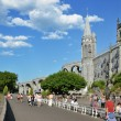Near the Grotto in Lourdes - Stock Photo