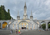 The Sanctuary of Our Lady of Lourdes — Stock Photo