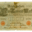 Front view of the old German banknote — Stock Photo