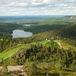 Summer Finnish landscape from Rukatunturi — Stock Photo