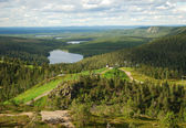 Summer Finnish landscape from Rukatunturi — Stock Photo