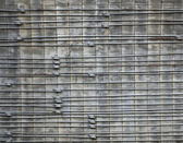 Concrete surface armed with rods — Stock Photo
