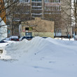 Snowdrifts after the abundant snowfall in Kiev - Stock Photo