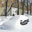 Stock Photo: Transport collapse after abundant snowfall in Kiev