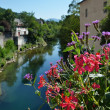 Summer view of the old French town — Stockfoto