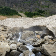 Glacier (le pont de neige) in the summer Pyrenees — Stock Photo