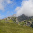 Summer mountains with an observatory in Pyrenees - Stock Photo