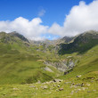 Summer view from the pass of Tourmalet in Pyrenees — 图库照片