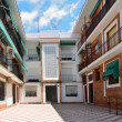 Modern patio of the Spanish apartment building — Stock Photo