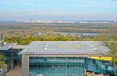 Heliport in the city Kyiv — Stock Photo