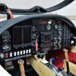 Cockpit of the light aircraft — Stock Photo
