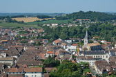 Ancient French town Orthez and its outskirts from above — Stock Photo