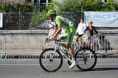 "Racing cyclist at the 99th cycle race ""Tour de France"" — Stockfoto"
