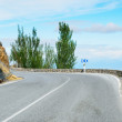 Turn of the Spanish mountain road — Stock Photo