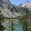 Summer view of the mountainous lake in Pyrenees — Стоковая фотография