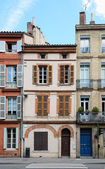 Small Toulouse Houses — Stock Photo