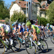 Peloton of the cycle race — Stock Photo