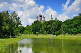 Summer park of the Ukrainian capital Kyiv — Stock Photo