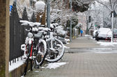Winter street of the German city Konstanz — Stock Photo