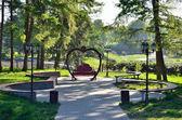Shady park in summer — Stock Photo